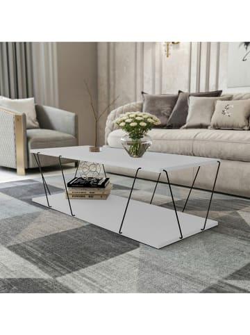 """Scandinavia Concept Ława """"Labranda"""" w kolorze biało-czarnym - 120 x 30 x 50 cm"""