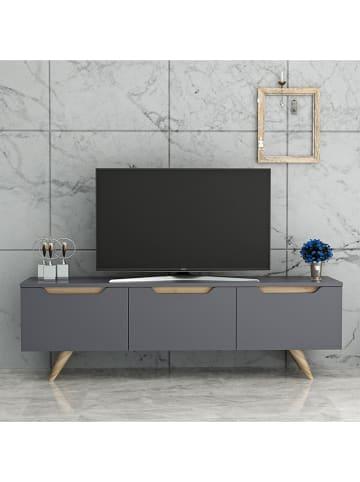 """Scandinavia Concept Szafka RTV """"Prag"""" w kolorze brązowo-antracytowym - 150 x 44 x 35 cm"""