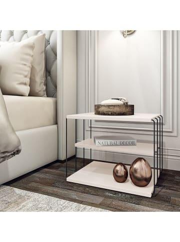 """Scandinavia Concept Bijzettafel """"Lifon"""" wit/zwart - (B)50 x (H)40 x (D)40 cm"""