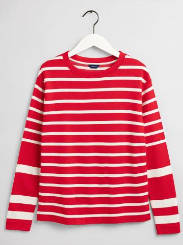 Gant Longsleeve in Rot/ Weiß