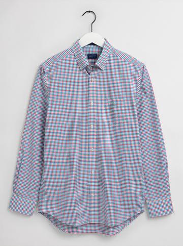 Gant Hemd - Regular fit - in Rot/ Mint/ Blau