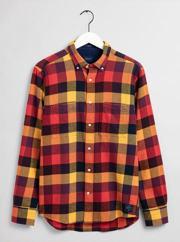 Gant Blouse - regular fit - geel/rood/zwart