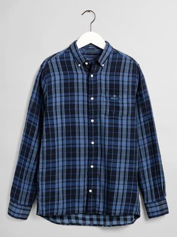 Gant Blouse - regular fit - blauw/donkerblauw
