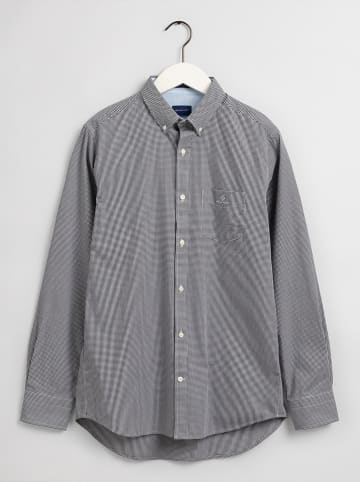 Gant Blouse - regular fit - donkerblauw/wit