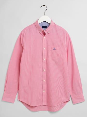 Gant Hemd - Regular fit - in Rot/ Weiß
