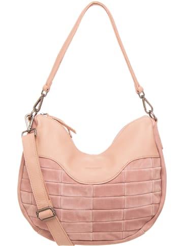 """FREDs BRUDER Leder-Shopper """"Bricky"""" in Rosa - (B)34 x (H)24 x (T)6 cm"""