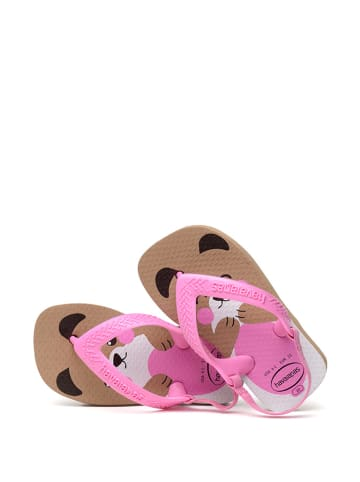 Havaianas Sandały w kolorze jasnobrązowo-różowym