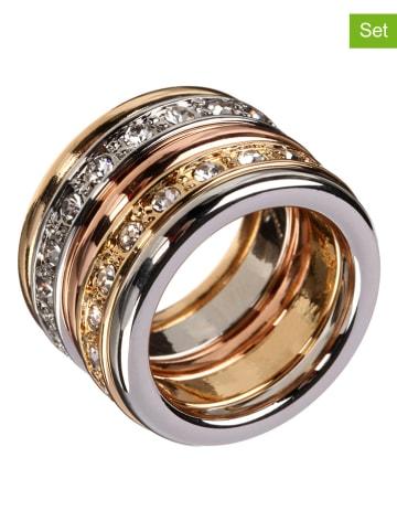 LA CHIQUITA 5er-Set: Ringe mit Edelsteinen
