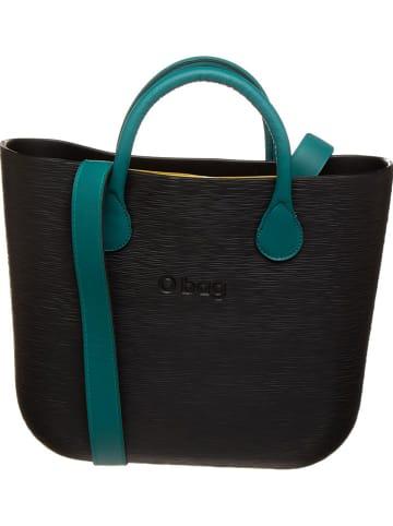 "O Bag Handtas ""O Bag"" donkerblauw/geel - (B)39 x (H)30 x (D)10 cm"