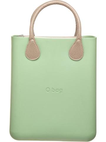 "O Bag Handtas ""O Chic"" lichtgroen/beige - (B)30 x (H)34 x (D)11 cm"