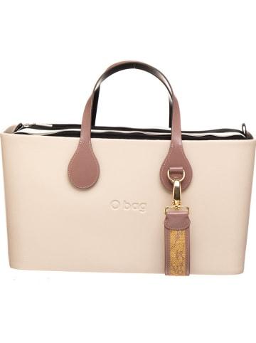 """O Bag Handtas """"O Bag City"""" crème/zwart - (B)37 x (H)20 x (D)13,5 cm"""