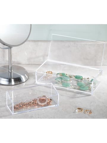 "Idesign Opbergbox ""Clarity"" transparant - (B)20 x (H)5 x (D)10 cm"