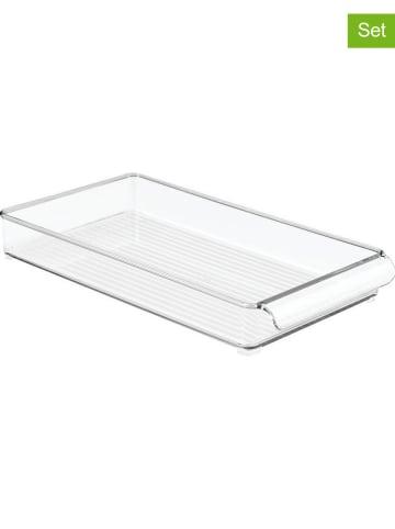 """Idesign 2er-Set: Aufbewahrungsorganizer """"Kitchen Binz"""" in Transparent"""