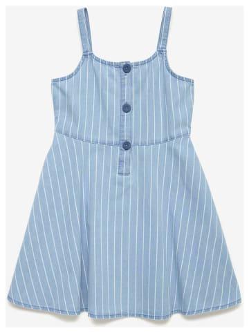 Benetton Sukienka w kolorze błękitno-białym