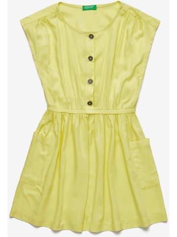 Benetton Sukienka w kolorze żółtym