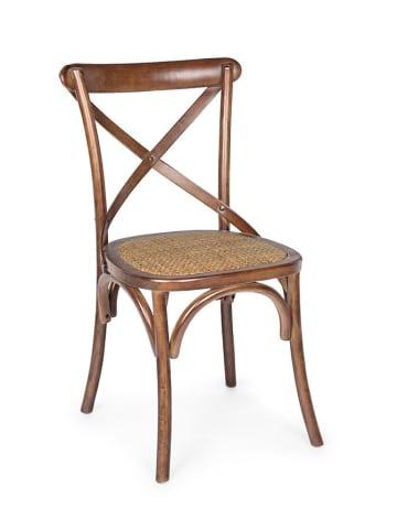 Bizzotto Krzesło w kolorze brązowym - (S)50,5 x (W)87 x (G)52 cm