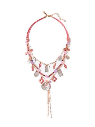 TATUUM Naszyjnik w kolorze różowym z zawieszkami i muszlą