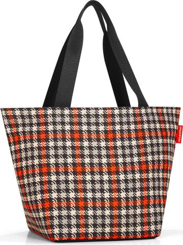 """Reisenthel Shopper bag """"M"""" w kolorze czerwono-czarno-beżowym - 51 x 30,5 x 26 cm"""