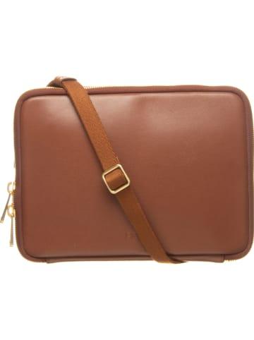 Bree Skórzane etui w kolorze brązowym na tablet - 26,5 x 18,5 x 4 cm