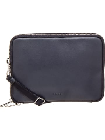 """Bree Leren tablet hoes """"Chicago 6"""" donkerblauw - (B)26,5 x (H)18,5 x (D)4 cm"""