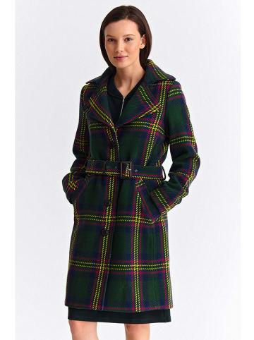 TATUUM Płaszcz w kolorze zielonym ze wzorem