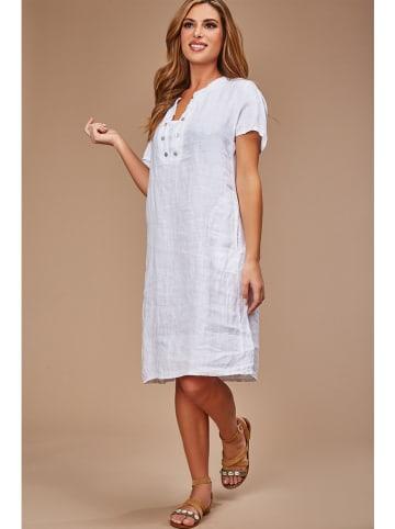 Le Monde du Lin Linnen jurk wit