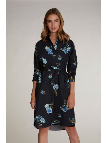 Oui Kleid in Schwarz/ Blau