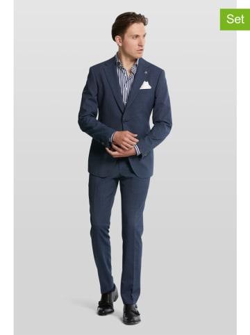 "Van Gils 2-delig pak ""Ellison"" donkerblauw"