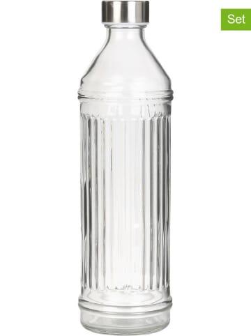 Garden Spirit 2-delige set: drinkflessen transparant - 1 l