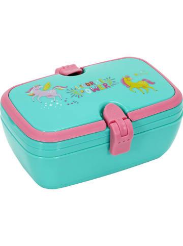 Garden Spirit Lunchbox turquoise - (B)16,5 x (H)13 x (D)6,5 cm