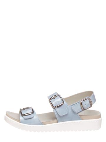 MUBB Leren sandalen lichtblauw