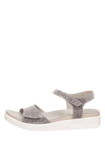 MUBB Leren sandalen grijs
