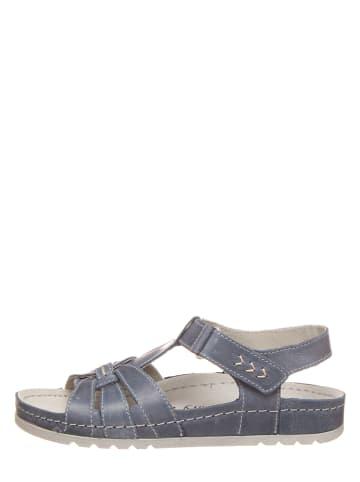 MUBB Leder-Sandalen in Blau