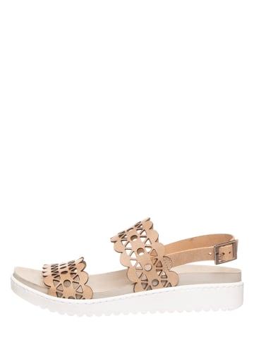 MUBB Leren sandalen beige