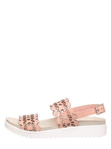MUBB Leren sandalen lichtroze