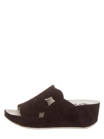 MUBB Leren slippers zwart