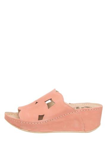 MUBB Leren slippers lichtroze