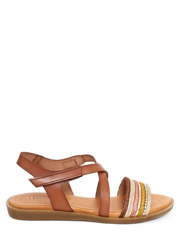 Mia Loé Leren sandalen bruin