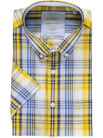 Bugatti Koszula - Regular fit - w kolorze niebiesko-żółto-białym