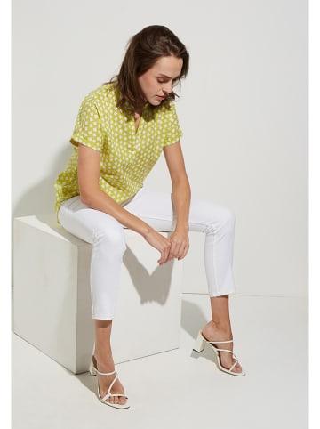 Eterna Bluse in Gelb/ Weiß