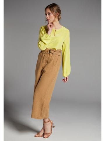 Eterna Zijden blouse geel