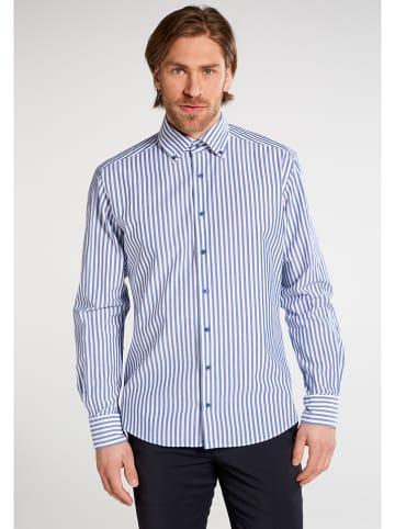 Eterna Koszula - Regular fit - w kolorze niebiesko-białym