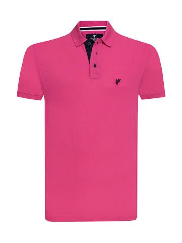 CULTURE Koszulka polo w kolorze różowym