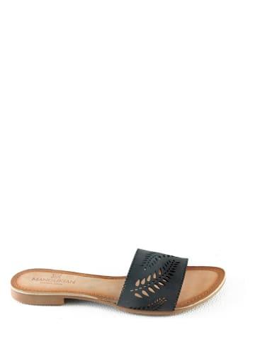 "Manoukian shoes Leder-Pantoletten ""Kindra"" in Schwarz"