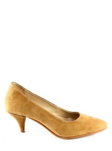 """Manoukian shoes Leren pumps """"Princesse"""" lichtbruin"""