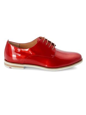 LLOYD Leder-Schnürschuhe in Rot