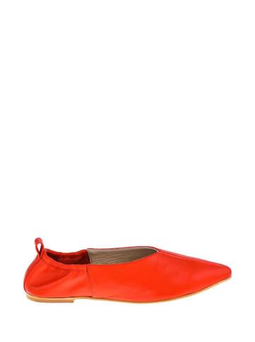 Lizza Shoes Leren ballerina's rood