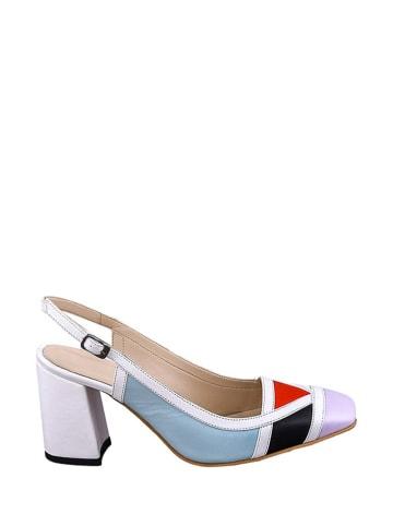 Lizza Shoes Leder-Pumps in Bunt