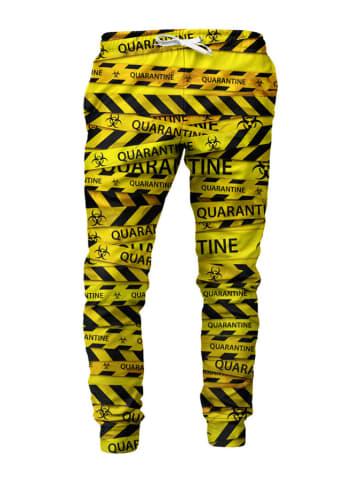 Mr.Gugu & Miss Go Spodnie w kolorze czarno-żółtym