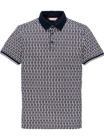 CAST IRON Poloshirt donkerblauw/wit